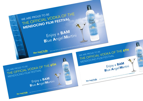 Blue Angel Vodka – Advertisements